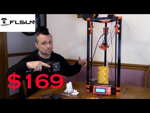 FLSUN Delta 3D Printer Unboxing and Review.  Best Cheap 3D Printer?