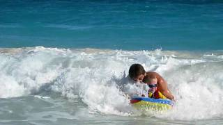 preview picture of video 'Boogie Boarding at the Crane - Barbados'
