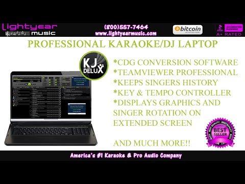 PROFESSIONAL KARAOKE AND DJ LAPTOP | WITH KJ DELUXE SOFTWARE | LIGHTYEARMUSIC ✅