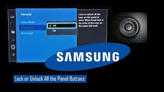 SAMSUNG TV Buttons Enable, Disable / Child Lock