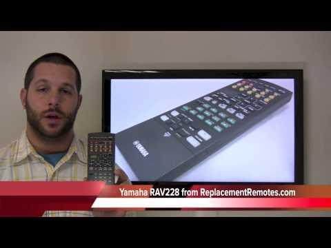 YAMAHA RAV228 Audio/Video Receiver Remote Control