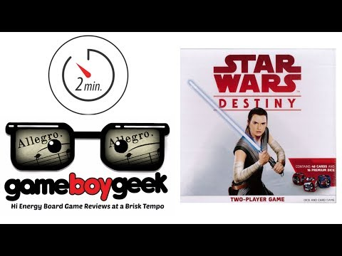 The Game Boy Geek's Allegro (2-min) Review of Star Wars Destiny Two Player Game