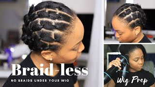 Forget CORNROWS underneath wigs, Try This instead BRAID-LESS METHOD | WASH DAY w/ Revair