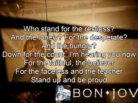 Bon Jovi - What About Now (Lyric Video)