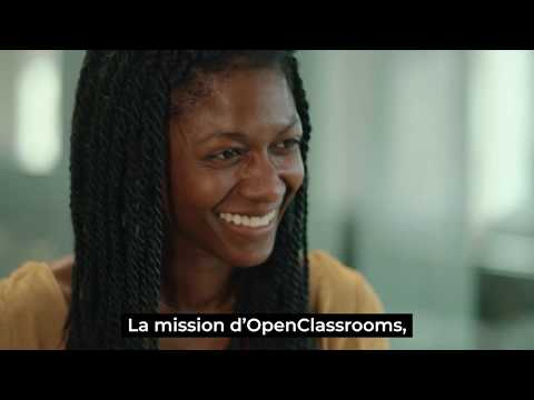 Video OpenClassrooms est l'école du futur, qui forme de manière professionnelle aux métiers d'avenir.