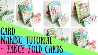DIY Card Making Tutorial - Fancy Fold Cards