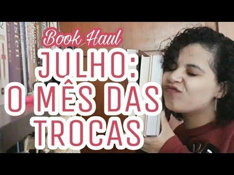 BOOK HAUL: LIVROS QUE PEGUEI DE TROCA EM JULHO | VEDA #25 | Livraneios