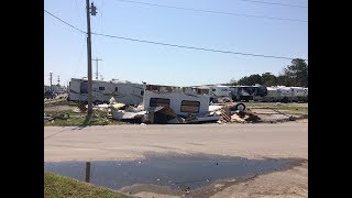 Tornado Damaged RV Park in Emerald Isle, N.C.