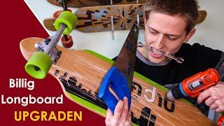 Billig-Longboard UPGRADEN: Einfach und OHNE hohe Kosten Anfänger-Longboards verbessern [Tutorial]