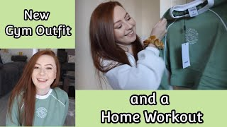 New Gym Outfit And A Home Workout | Abbie Louise