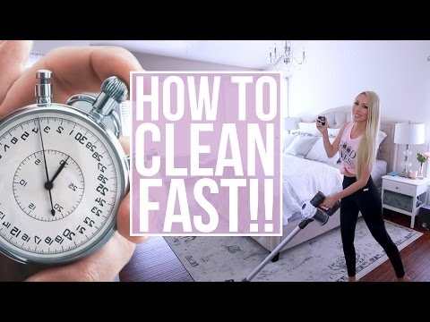 How To Clean Fast! My Speed Cleaning Routine