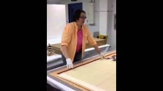 Antique Quilt Folding