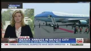 preview picture of video 'President Obama Air Force One Mexico City Mexico Arrival (May 2, 2013)'