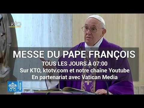 Messe du pape François à Sainte-Marthe du mercredi 25 mars 2020