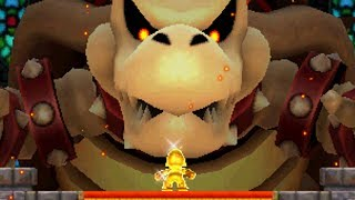 New Super Mario Bros 2 - All Bosses with Golden Mario