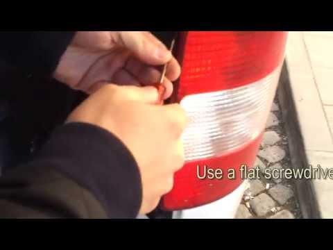 VW Caddy Maxi Replacing the Rear Brake Light