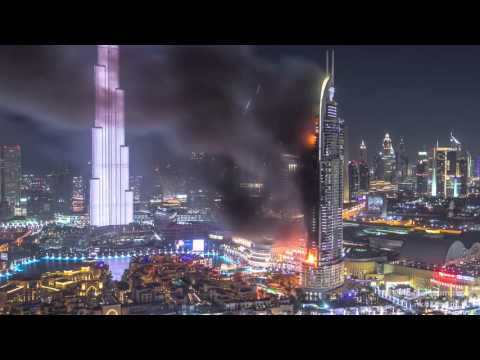 Stunning Time Lapse Shows The Skyscraper In Dubai Engulfed In Fire