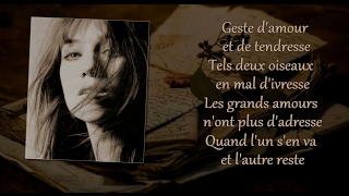 Charlotte Gainsbourg - L'un part l'autre reste (with lyrics)