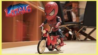 BABY SPIDERMAN Stop Motion Video with Stormtrooper & Venom