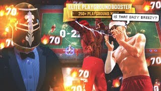 BOOSTERS ON HUGE 70 GAME WIN STREAK! ELITE TRYHARDS vs EASY BREEZY DF • BEST BUILD? NBA 2K19 PARK