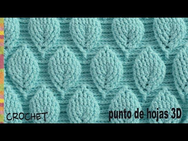 Easy Crochet Leaf Stitch Pattern Crochetbeja