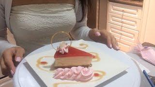 Dessert Plating - Strawberry Cheesecake
