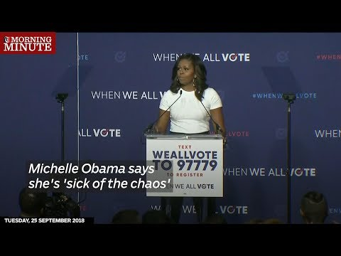 Michelle Obama says she's 'sick of the chaos'