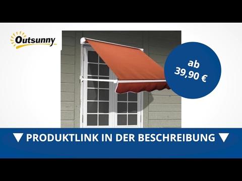 Outsunny Alu Markise Klemmmarkise Fenster Sonnenschutz 122 x 70 cm - direkt kaufen!