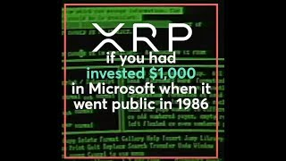 $1000 Invested In Microsoft IPO And Ripple XRP
