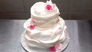 Make Your Own BEAUTIFUL WEDDING CAKE | How To Decorate  By Cakes StepbyStep
