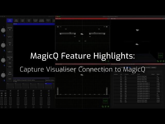 MagicQ Capture Visualiser connection