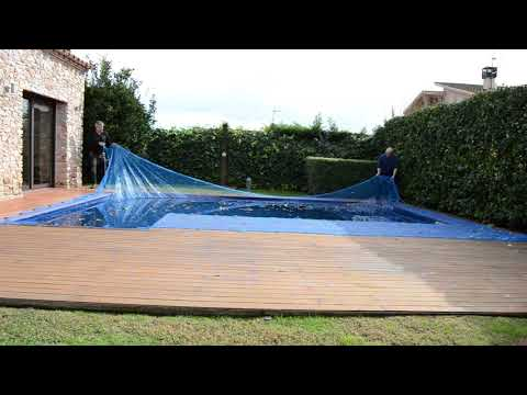 Protector de piscina Leaf Pool Cover 6 x 10 m