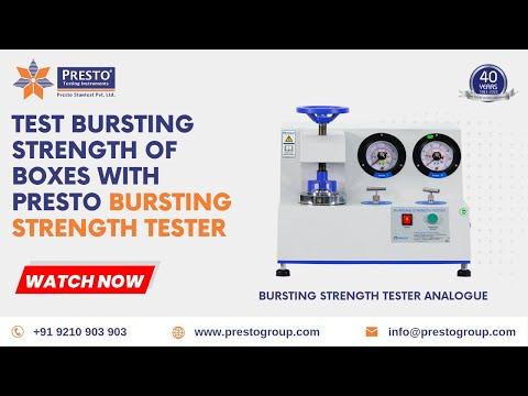 Bursting Strength Tester- Analogue