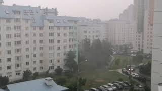 Heavy rain In Minsk. Сильный ливень в Минске.