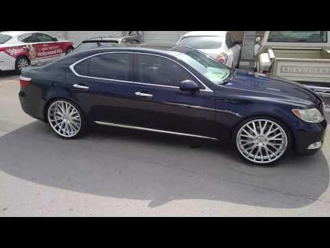 "22"" Inch Beyern Munich Brushed Silver Wheels Chrome Lip Rims 2006 Lexus LS460 Rims Free Shipping"