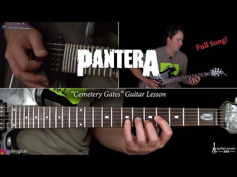 Cemetery Gates Guitar Lesson (Full Song) - Pantera
