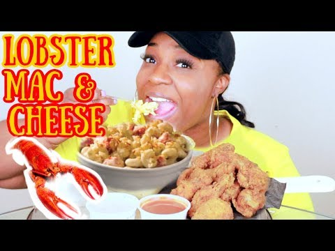 LOBSTER MAC & CHEESE AND FRIED CHICKEN MUKBANG......|SIMPLY NADINE|