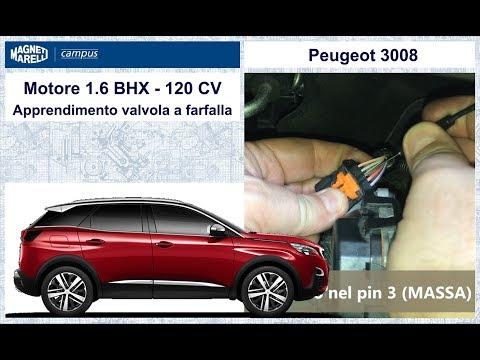 3 Peugeot 3008 VIDEO Apprendimento valvola farfalla