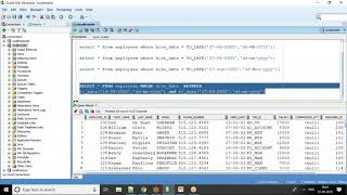 Oracle SQL Tutorial - Date column in where condition