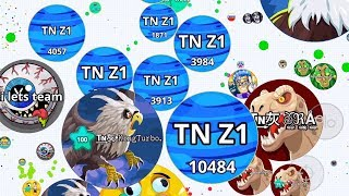 ZONE TEAM VS CLAN BATTLE TAKEOVER AGARIO MOBILE