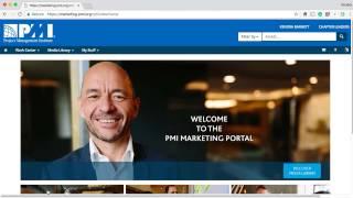 PMI Marketing Portal Homepage Login Instructions