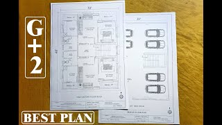 30X40 Apartment G+2 House Plan / 1Bhk 2 Portion