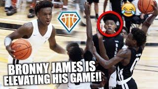 BRONNY JAMES SHUTS THE GYM DOWN!! | Shows Off DEEP NBA RANGE at Balling on the Beach