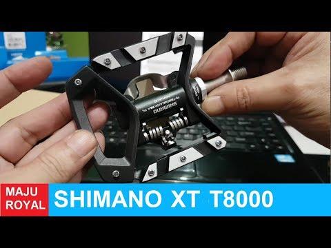 Pedal Cleat and Flat Shimano T8000 XT wow keren banget gan...