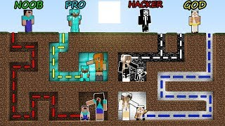 Minecraft Battle: NOOB vs PRO vs HACKER vs GOD - MAZE TO FAMILY Challenge! Minecraft Animation!
