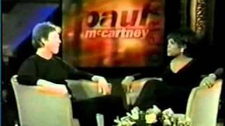 Paul McCartney on Oprah (Nov. 1997) part 1