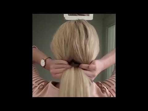 10 легких причесок на длинные волосы -  на работу - Easy hairstyles 2017