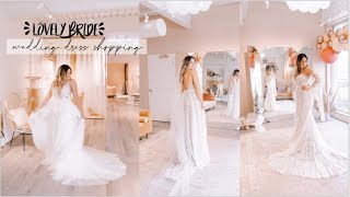 WEDDING DRESS SHOPPING AT LOVELY BRIDE | Trying On Boho Dresses + I SAID YES TO THE DRESS!! 💍