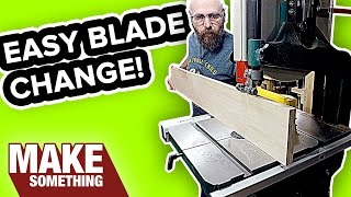 How to Change a Bandsaw Blade   The Easy Way!
