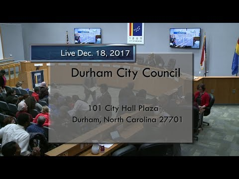 Durham City Council Dec 18, 2017